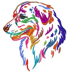 Colorful Dog embroidery design