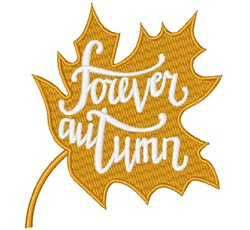 Forever Autumn embroidery design