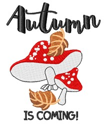 Autumn Is Coming embroidery design