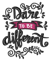 Be Different embroidery design