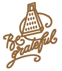 Be Grateful embroidery design
