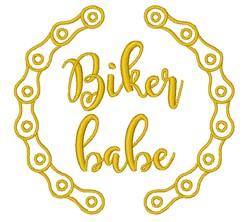 Biker Babe embroidery design