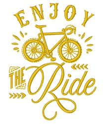 Enjoy The Ride embroidery design