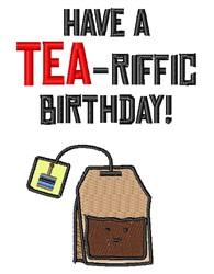 A Tea-riffic Birthday embroidery design