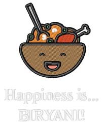 Happiness Is Biryani embroidery design