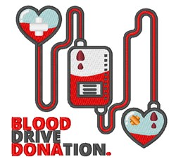 Blood Drive embroidery design