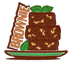 Brownie embroidery design