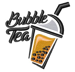 Bubble Tea embroidery design