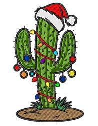 Christmas Cactus embroidery design