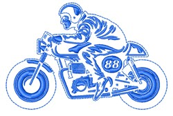 Motorcycle Racer embroidery design
