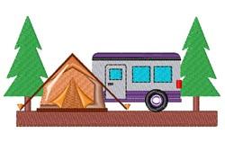 Tent & Camper embroidery design