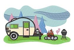 Camp Site embroidery design