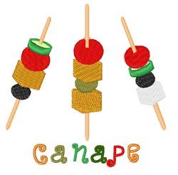 Canape embroidery design