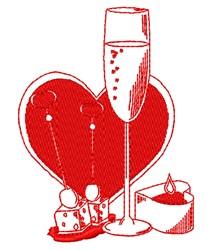 Valentine Food embroidery design