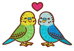 Love Parakeets embroidery design