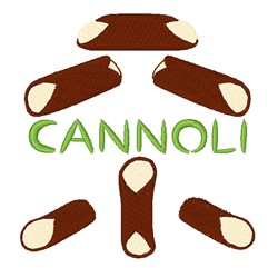 Cannoli embroidery design