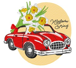 Spring Car embroidery design