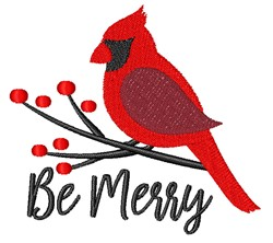 Be Merry embroidery design