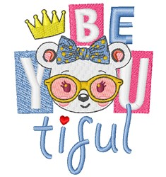Be You Tiful embroidery design
