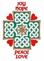 Joy Hope Peace Love embroidery design