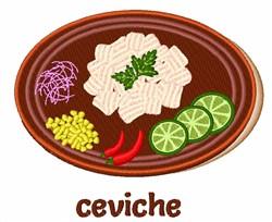 Ceviche embroidery design