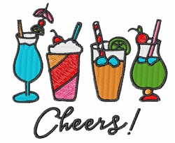 Cheers Drinks embroidery design