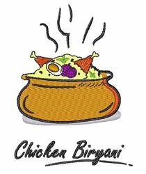 Chicken Biryani embroidery design