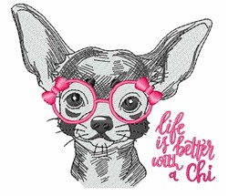 Life With A Chi embroidery design