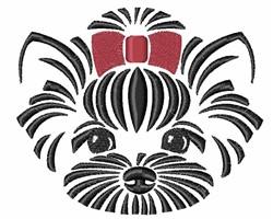 Yorkie Head embroidery design