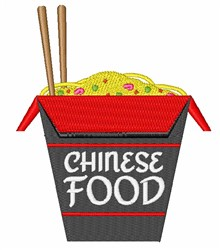 Chinese Food embroidery design