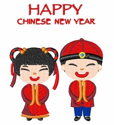 Chinese New Year embroidery design