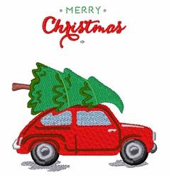Christmas Tree Car embroidery design