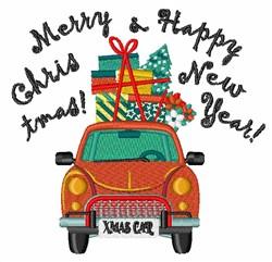 Xmas Car embroidery design