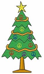 Peace Tree embroidery design