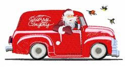 Santas Truck embroidery design