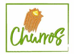 Churros embroidery design