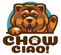 Chow Ciao embroidery design