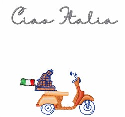 Ciao Italia embroidery design