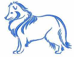 Collie Outline embroidery design