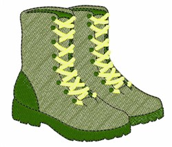 Combat Boots embroidery design