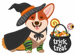 Halloween Corgi embroidery design