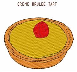 Creme Brulee Tart embroidery design