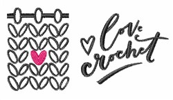 Love Crochet embroidery design
