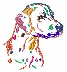 Colorful Dalmatian embroidery design