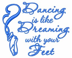 Dreaming With Feet embroidery design