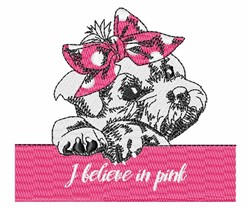 I Believe In Pink embroidery design
