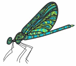 Dragonfly embroidery design