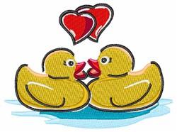 Love Ducks embroidery design