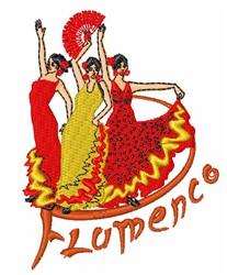 Flamenco embroidery design