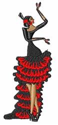 Flamenco Lady embroidery design